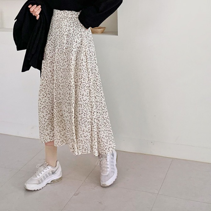 Bloom floral long skirt