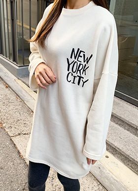 New york boxy T(기모)