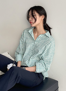 Soft texture check shirts