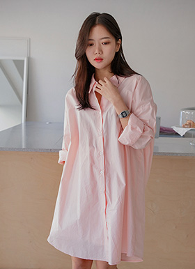 Pastel cotton long shirts