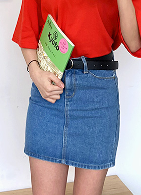 Solt denim mini skirt
